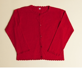 red girls cardigan