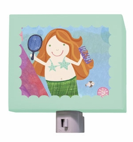 red headed mermaid nightlight