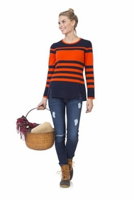 red navy stripe cozy for cashmere sweater