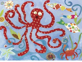 red octopus wall art