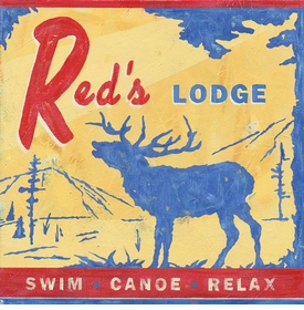 red's lodge wall art