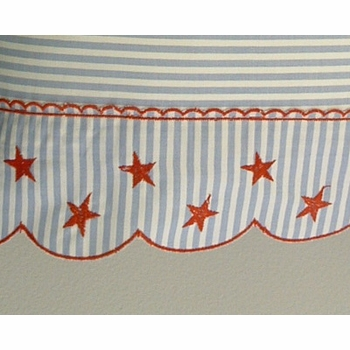 red star on stripe crib bedding by sweet william - currently unavailable