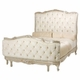 regal queen bed - tufted upholstered (custom fabrics and finishes available)