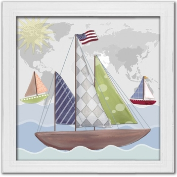 regatta boat wall art
