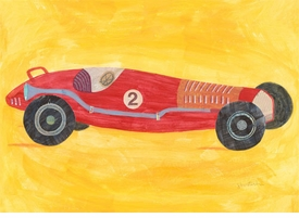 retro racer #2 wall art