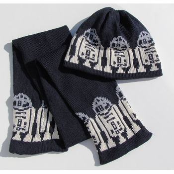 robot custom knit hat