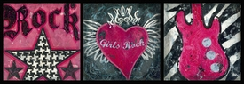 rock and roll girl wall art - unavailable
