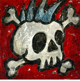 rock and roll skull wall art - unavailable
