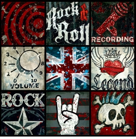 rock and roll wall art - unavailable