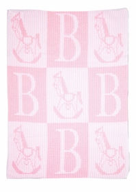 rocking horse and initial stroller blanket