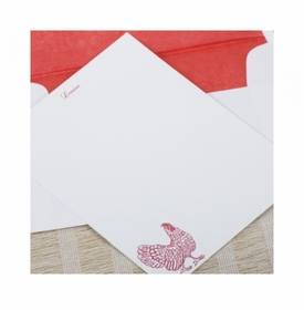 rooster social stationery