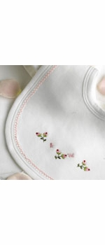rosebuds deluxe embroidered layette set by gordonsbury