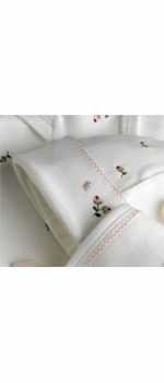 rosebuds embroidered layette set by gordonsbury
