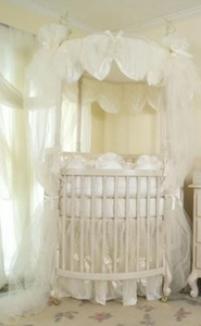 round crib bedding