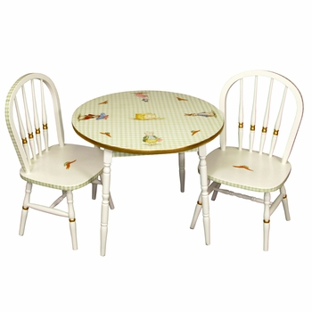 Round Play Table and Chair Set Classic Enchanted Forest