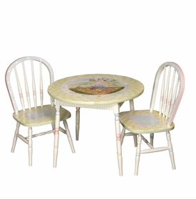 Round Play Table and Chair Set - Nursery Rhymes