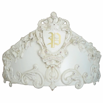royal prince princess court bed crown by villa bella