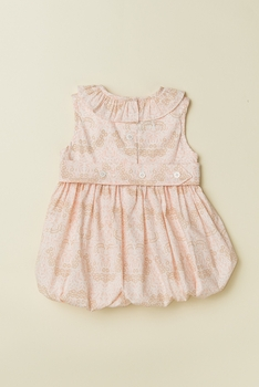 ruffled collar baby bubble - ballet pink