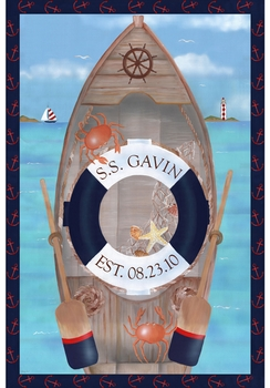 s s maritime nautical navy personalized wall hanging