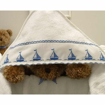 sailboats hooded towel by sweet william