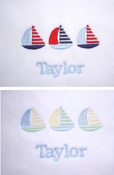 sailboats personalized hooded towel