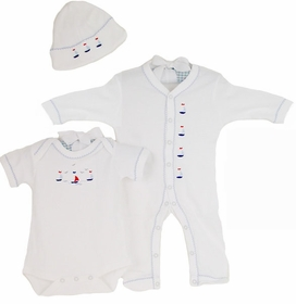 sailing away embroidered layette set by gordonsbury