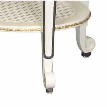 sandrine table (white with navy/gold gilding)
