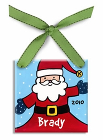 santa christmas ornament (boy)