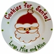 santa personalized christmas plate