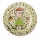 santa's cookies girls personalized plate