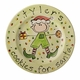 santa's cookies personalized plate - elf boy