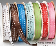 Satin Large Dot Personalized Ribbons