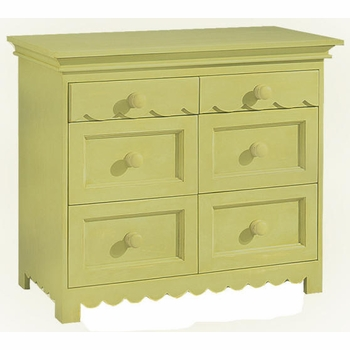 Scallop 6 Drawer Dresser