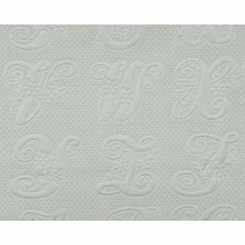 script/spa blue fabric
