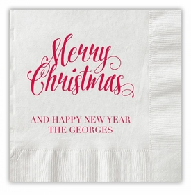 Scripty Christmas Napkins