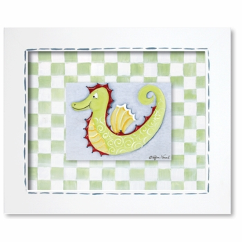 seahorse framed gilcee reproduction wall art - SOLD OUT