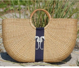 seahorse shorty basket bag