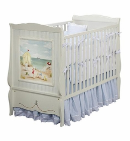 seashore french panel crib by art for kids