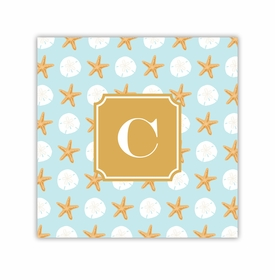 seashore square paper coaster<br>set of 50