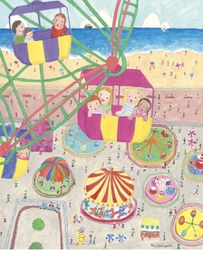 seaside carnival wall art canvas reproduction