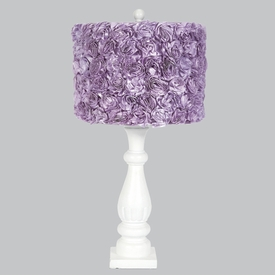 shabby chic lamp with lavender rose shade