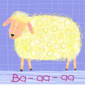 Sheep Says Baa wall art