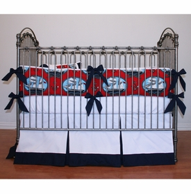ships ahoy sailboat crib bedding