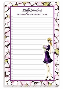 shopping bride note pad