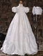 silk dupioni bubble christening gown