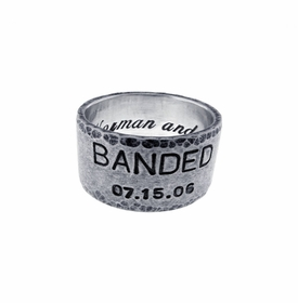 silver 12mm band ring