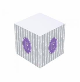 silver bamboo sticky note cube