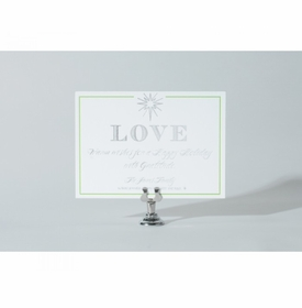 silver love holiday card