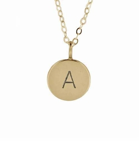 simple solo medium initial charm necklace