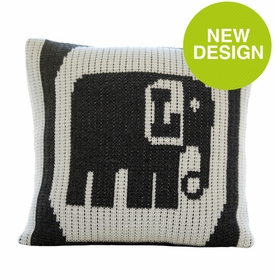 single elephant initial pillow